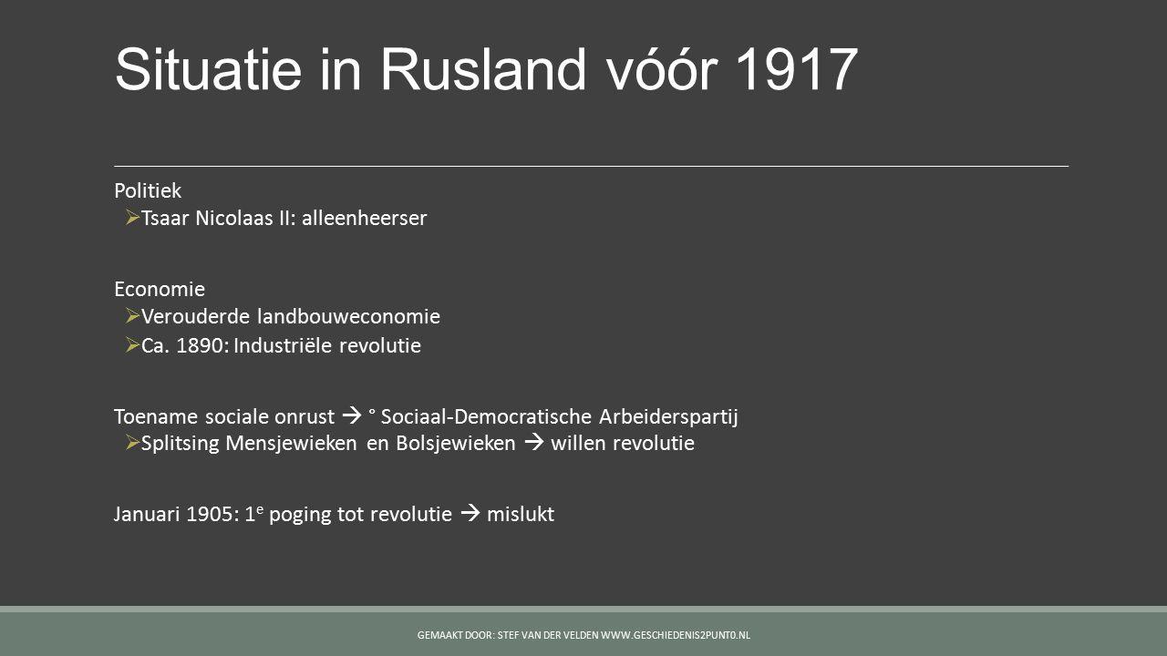 Situatie in Rusland vóór 1917