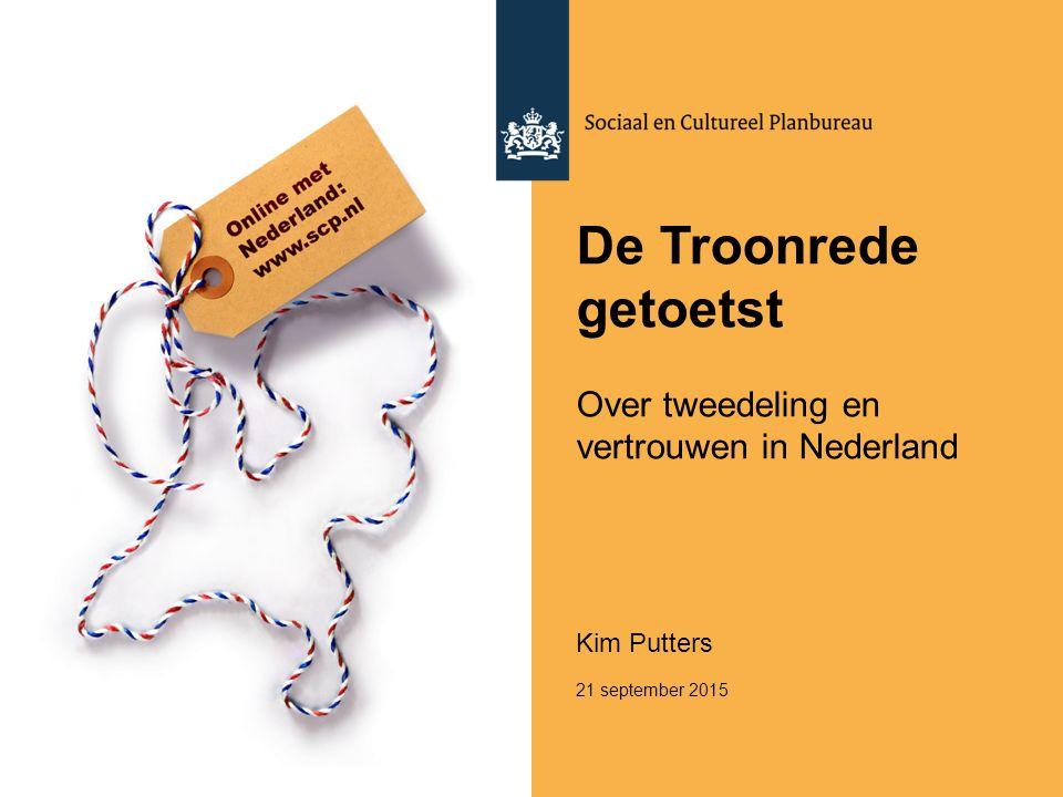 De Troonrede getoetst Over tweedeling en vertrouwen in Nederland
