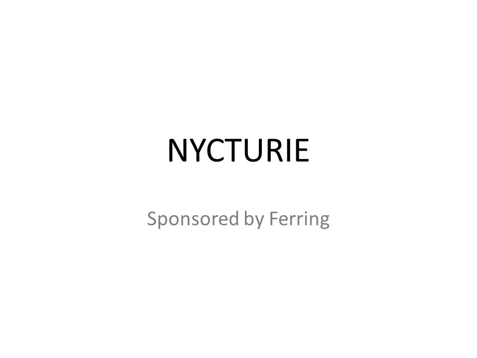 NYCTURIE Sponsored by Ferring