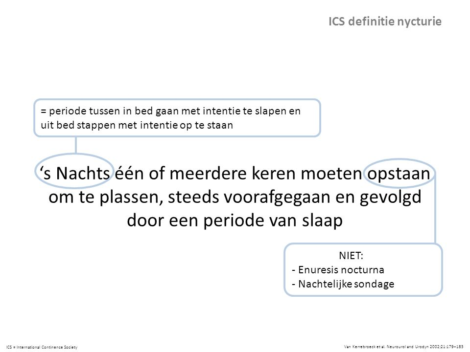 ICS definitie nycturie