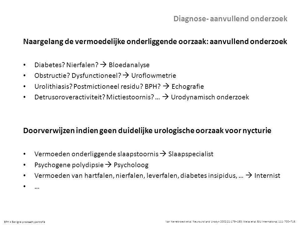Diagnose- aanvullend onderzoek