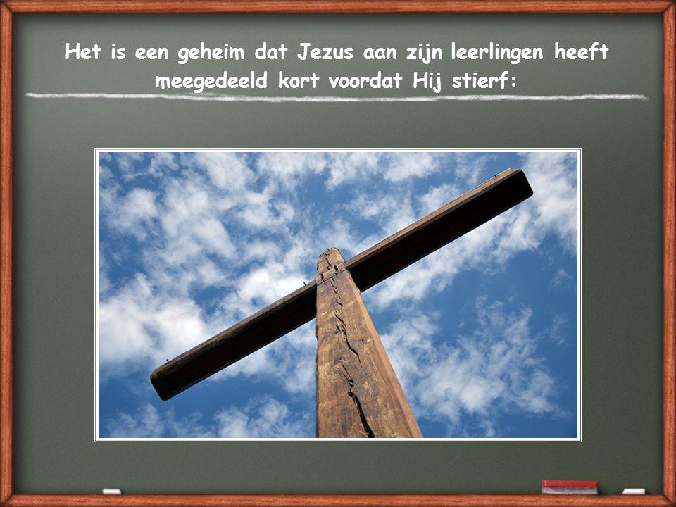Het is een geheim dat Jezus aan zijn leerlingen heeft meegedeeld kort voordat Hij stierf: