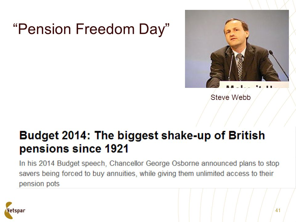 Pension Freedom Day Steve Webb