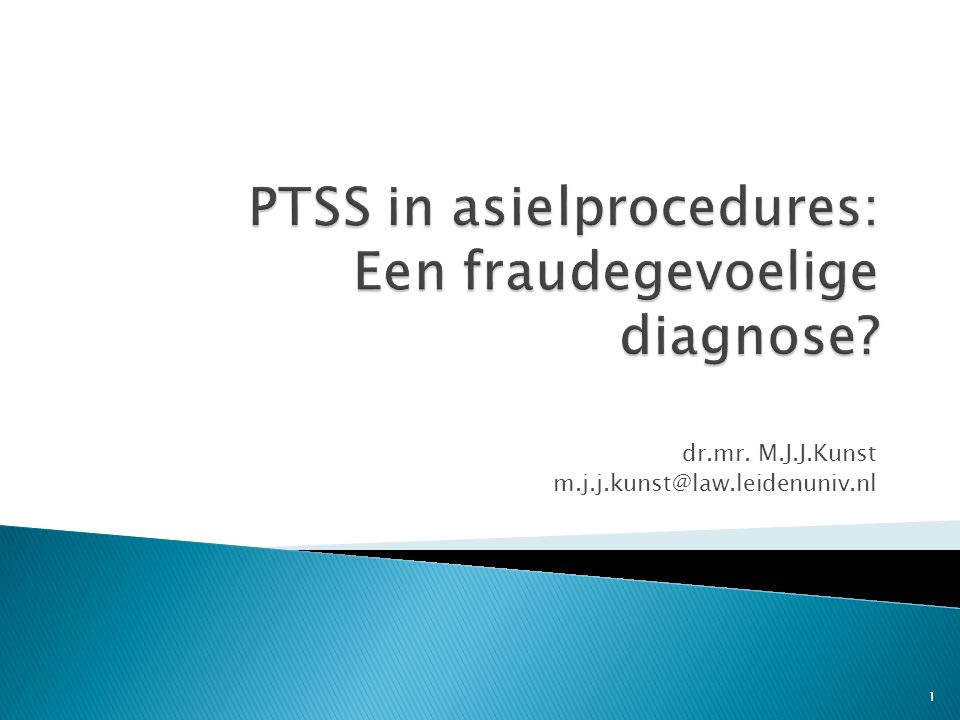 PTSS in asielprocedures: Een fraudegevoelige diagnose
