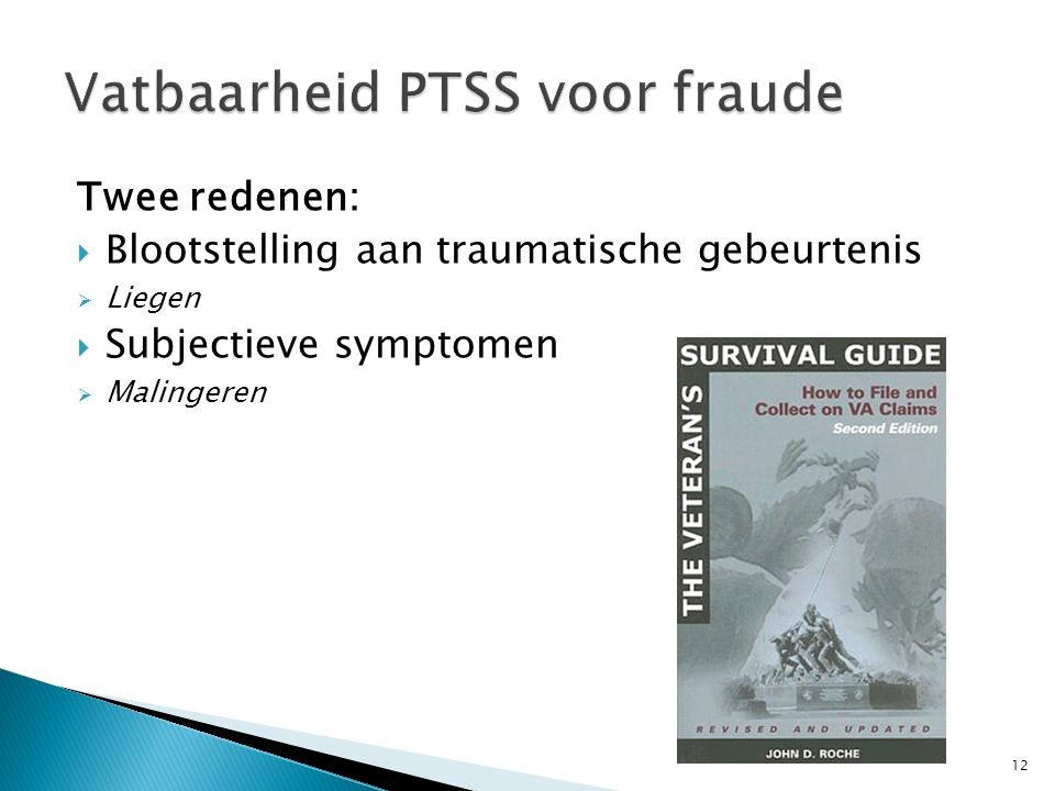 Vatbaarheid PTSS voor fraude
