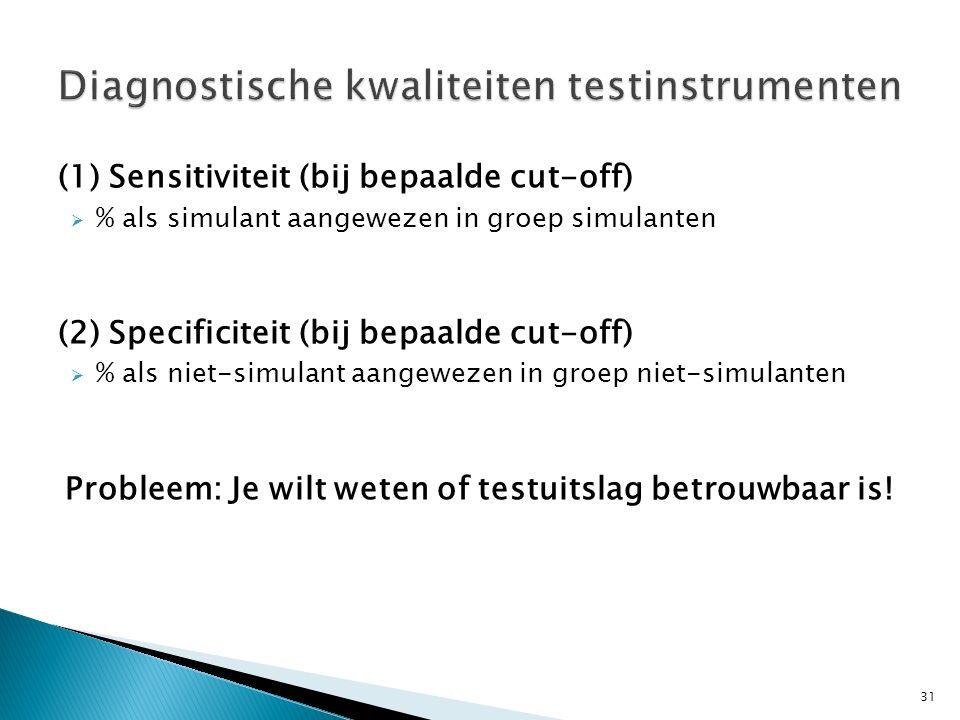 Diagnostische kwaliteiten testinstrumenten