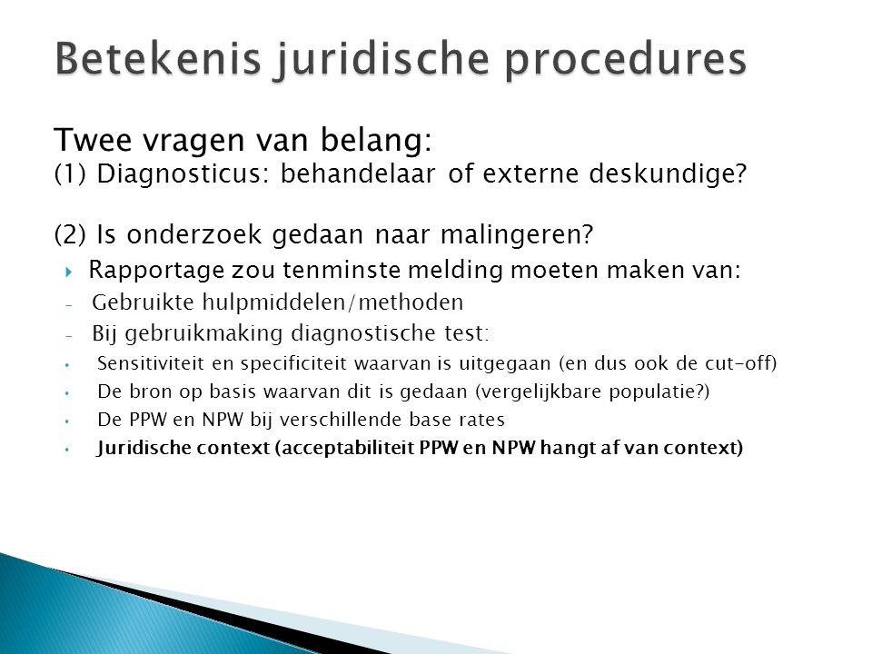 Betekenis juridische procedures