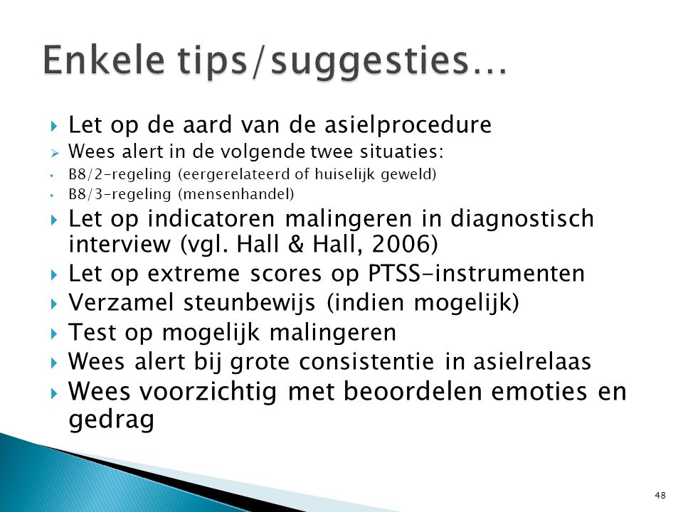 Enkele tips/suggesties…