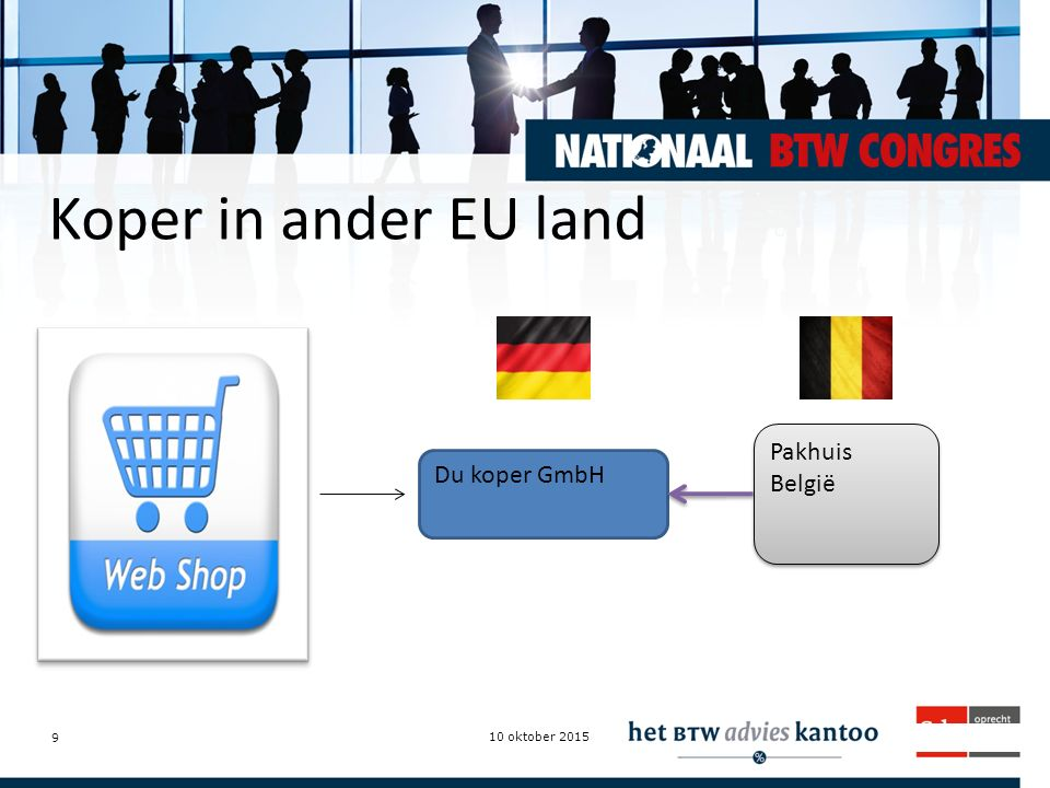 Koper in ander EU land Pakhuis België Du koper GmbH