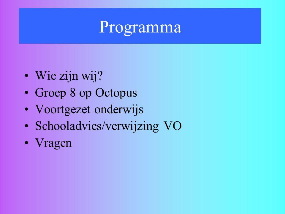 Programma Wie zijn wij Groep 8 op Octopus Voortgezet onderwijs