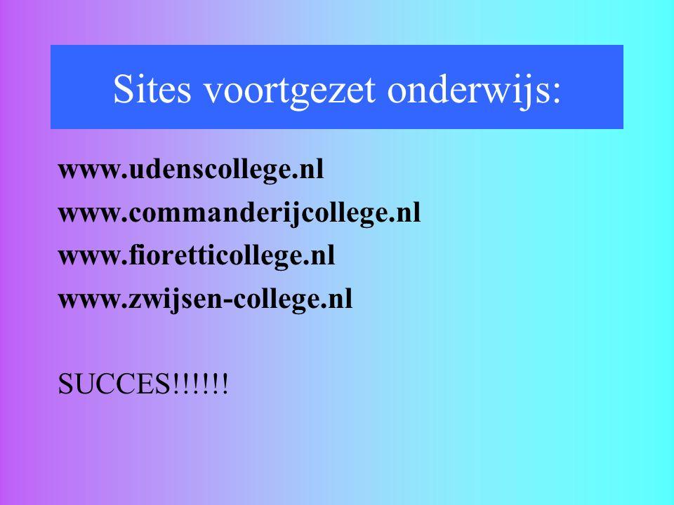 Sites voortgezet onderwijs: