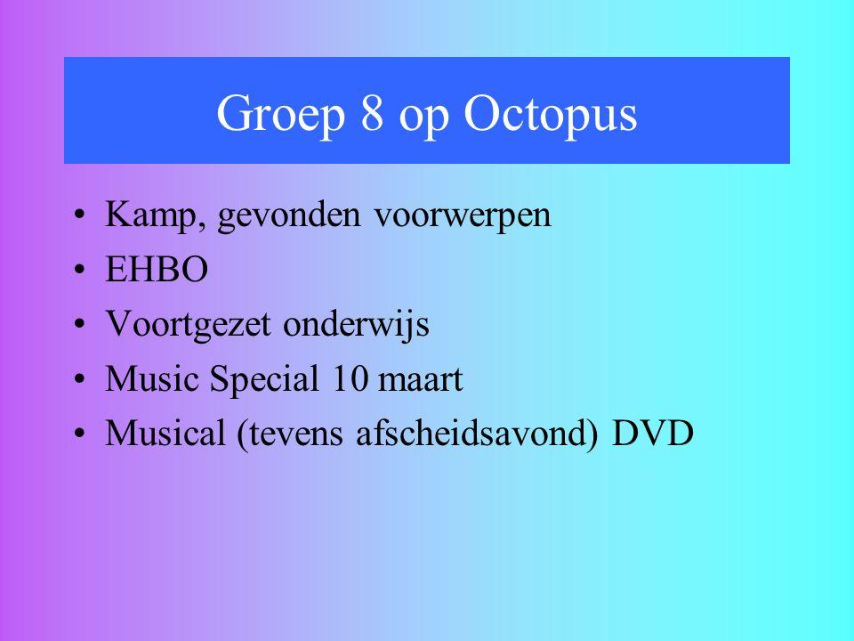 Groep 8 op Octopus Kamp, gevonden voorwerpen EHBO Voortgezet onderwijs