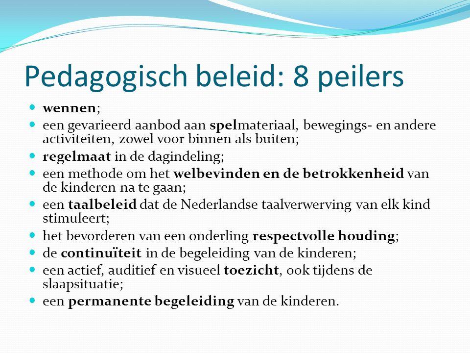Pedagogisch beleid: 8 peilers