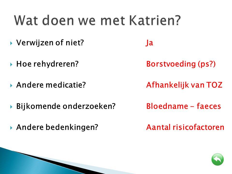 Wat doen we met Katrien Verwijzen of niet Ja
