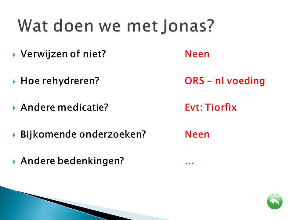Wat doen we met Jonas Verwijzen of niet Neen