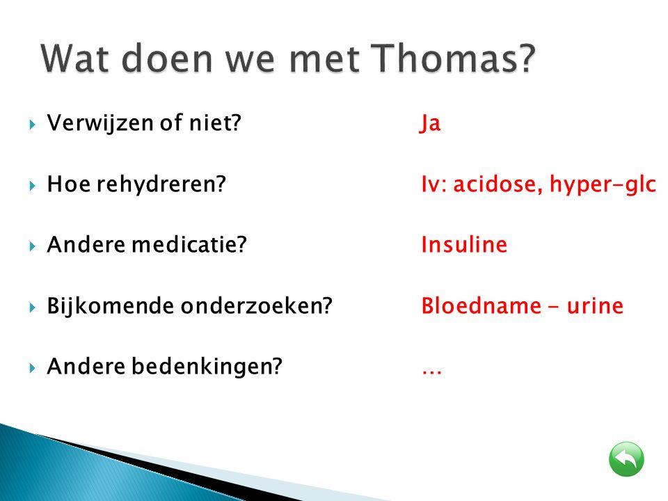 Wat doen we met Thomas Verwijzen of niet Ja