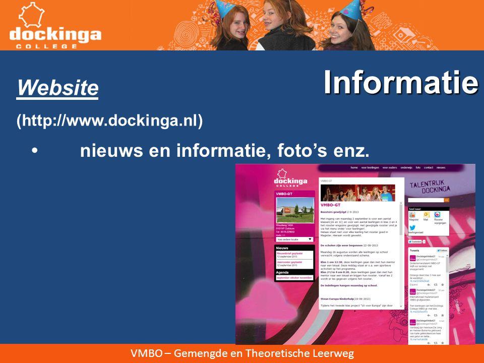 Informatie Website • nieuws en informatie, foto's enz.