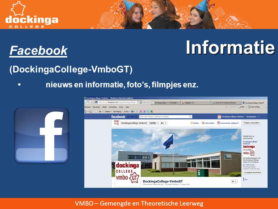 Informatie Facebook (DockingaCollege-VmboGT)
