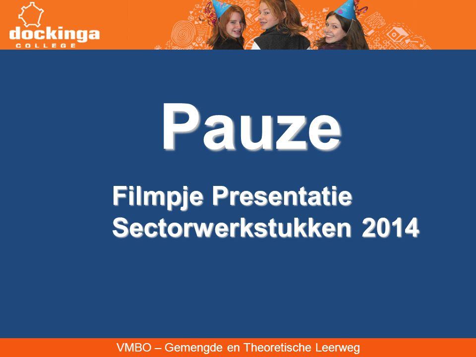 Pauze Filmpje Presentatie Sectorwerkstukken 2014