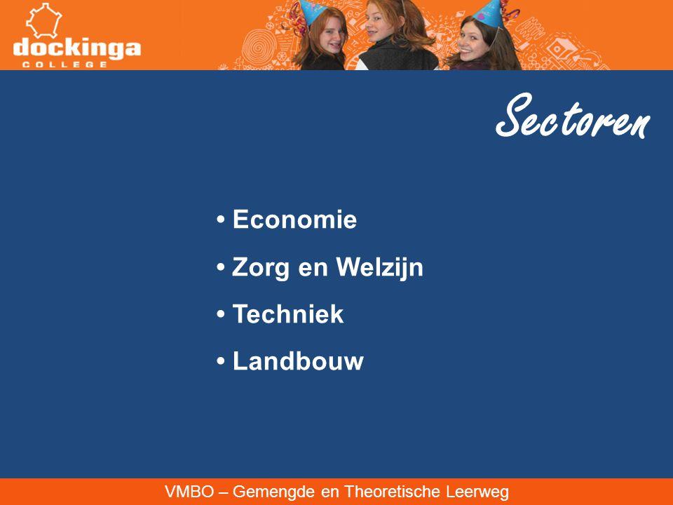 Sectoren • Economie • Zorg en Welzijn • Techniek • Landbouw