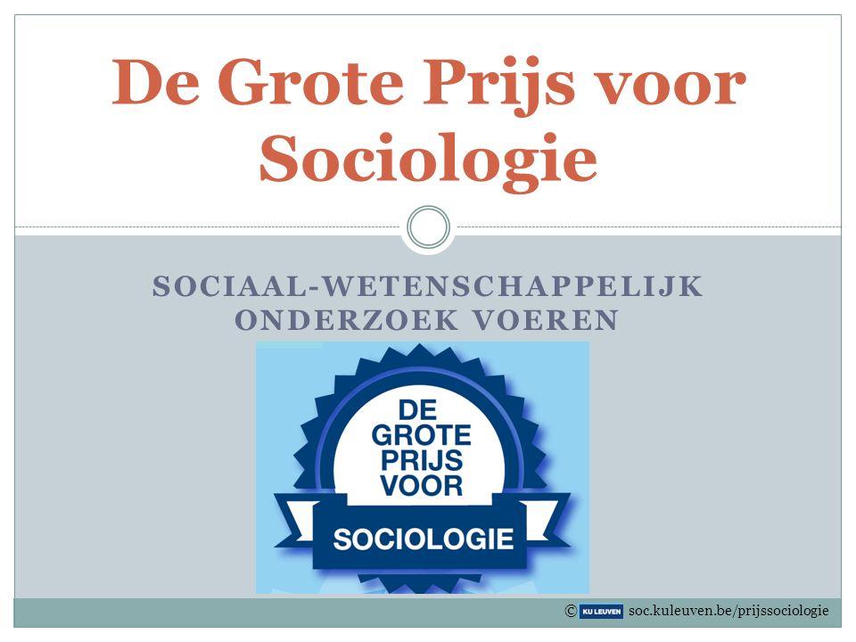 De Grote Prijs voor Sociologie