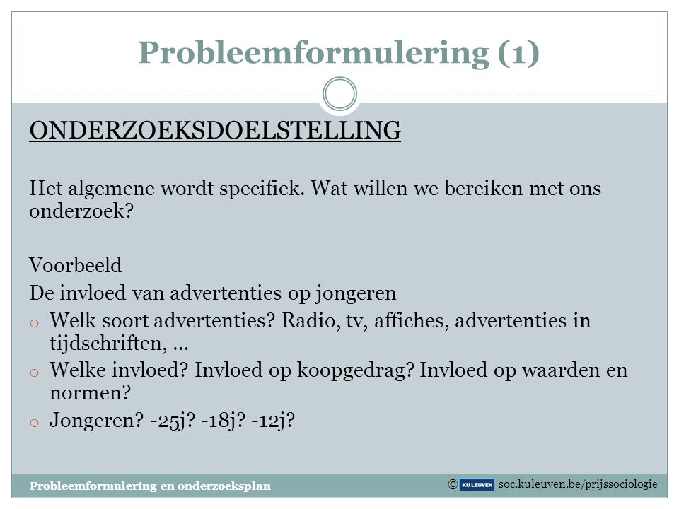 Probleemformulering (1)