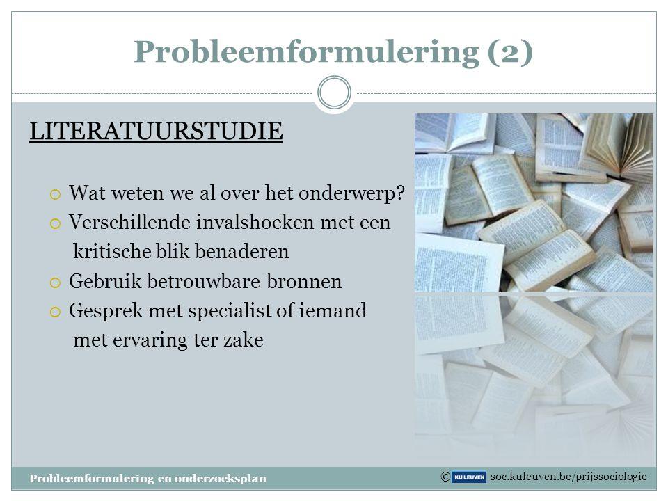 Probleemformulering (2)