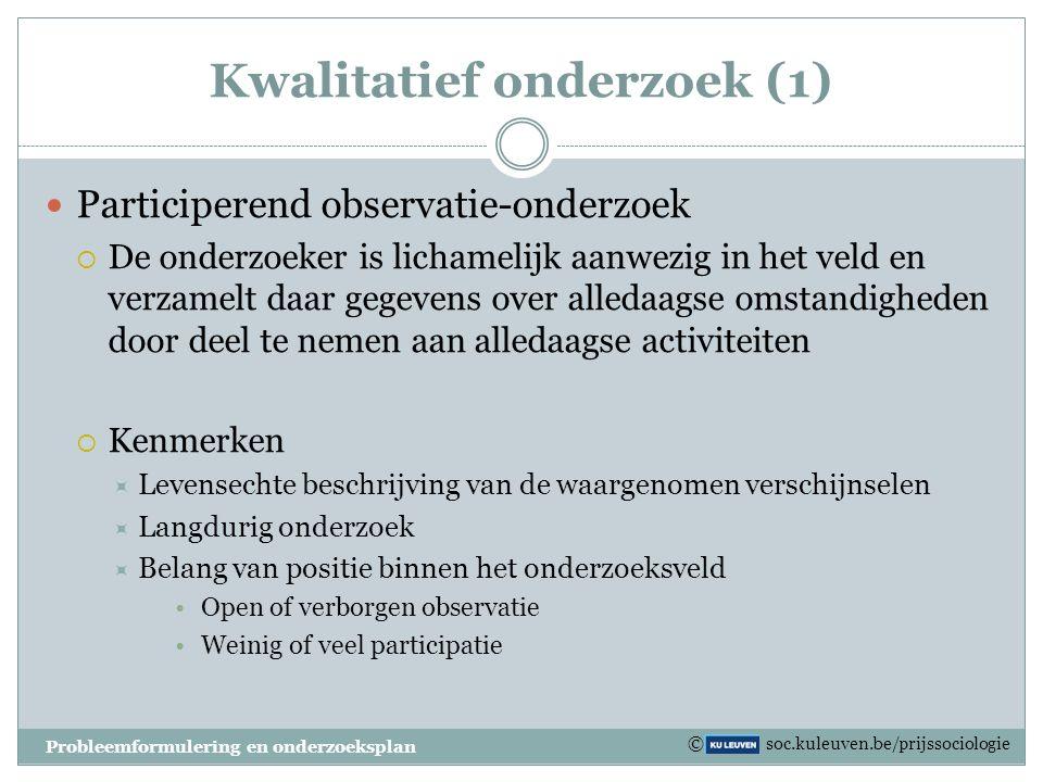 Kwalitatief onderzoek (1)