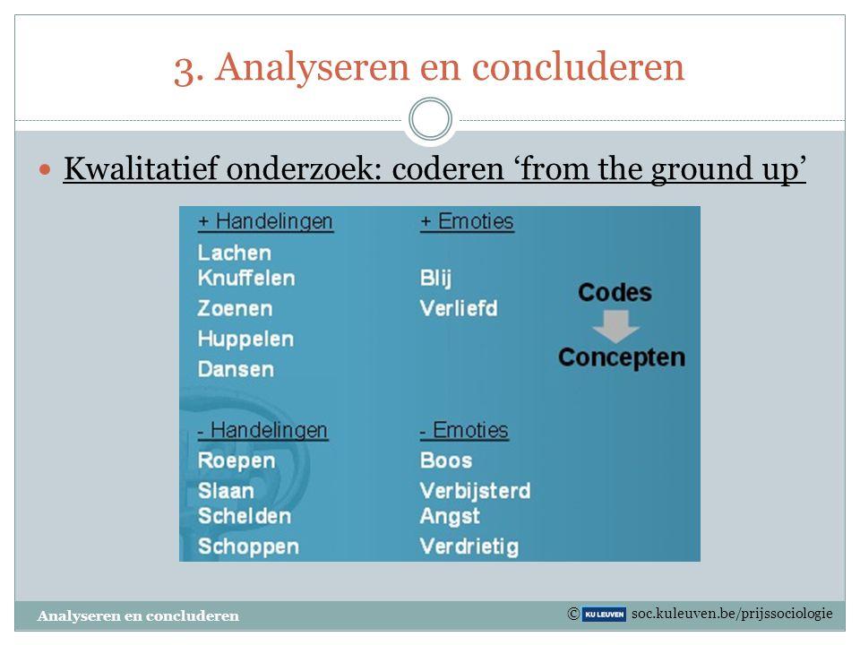 3. Analyseren en concluderen