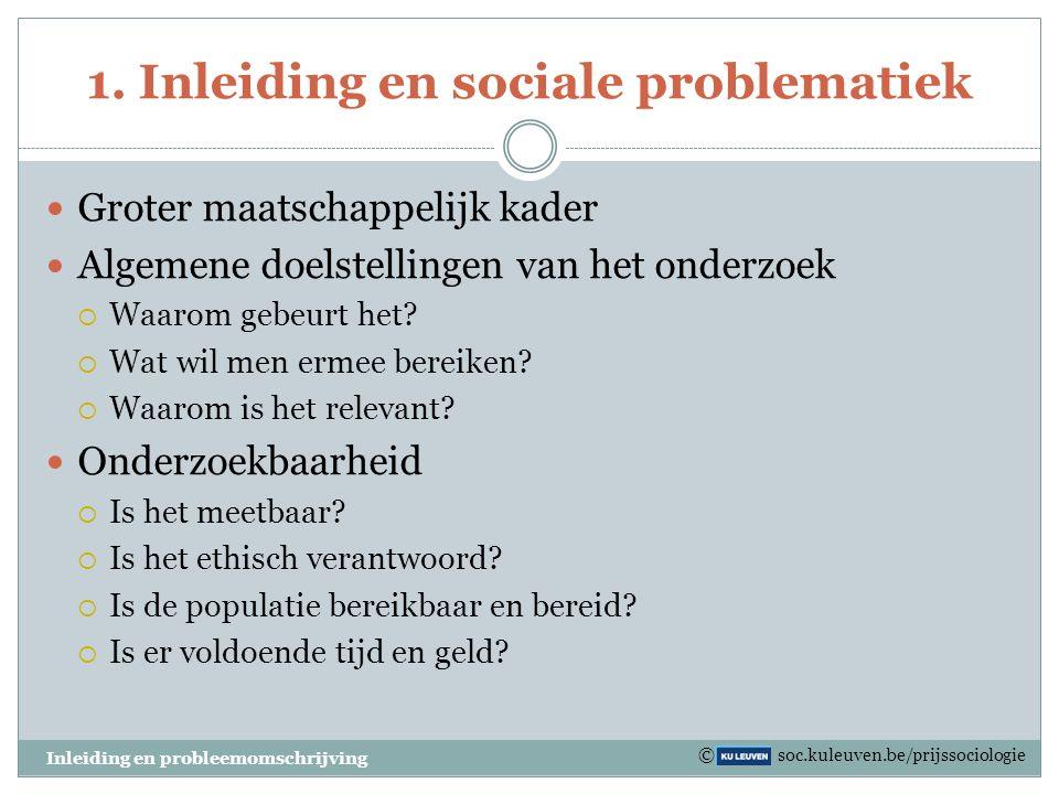 1. Inleiding en sociale problematiek