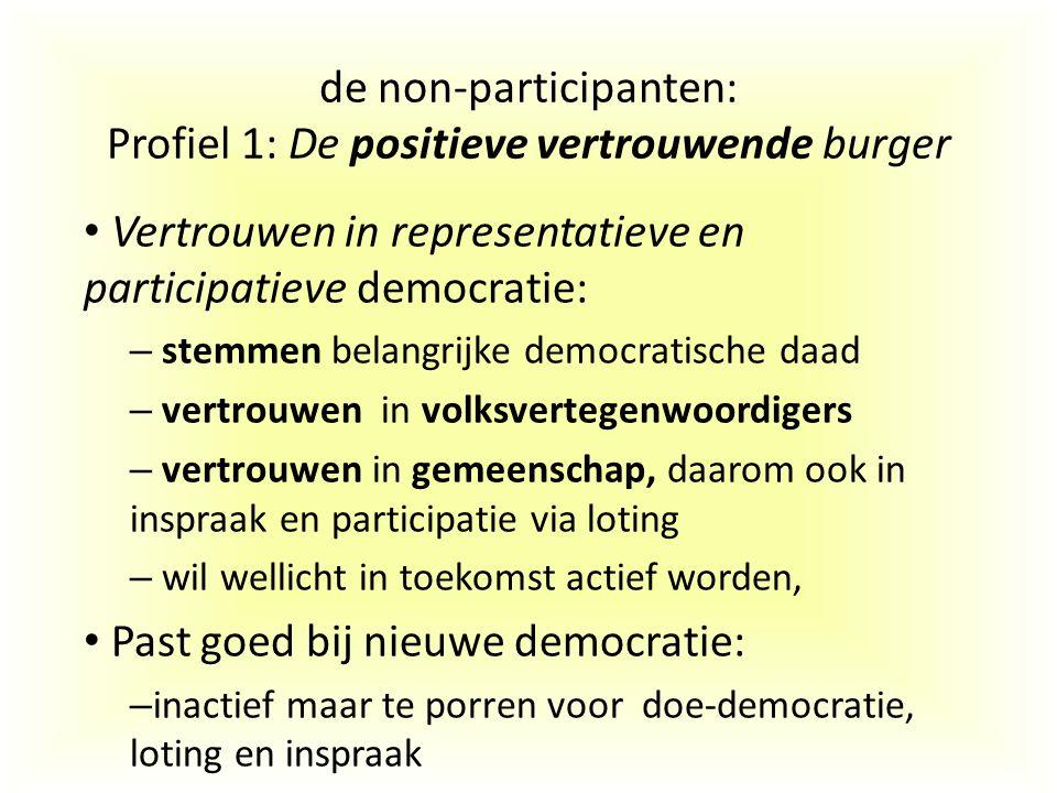 de non-participanten: Profiel 1: De positieve vertrouwende burger