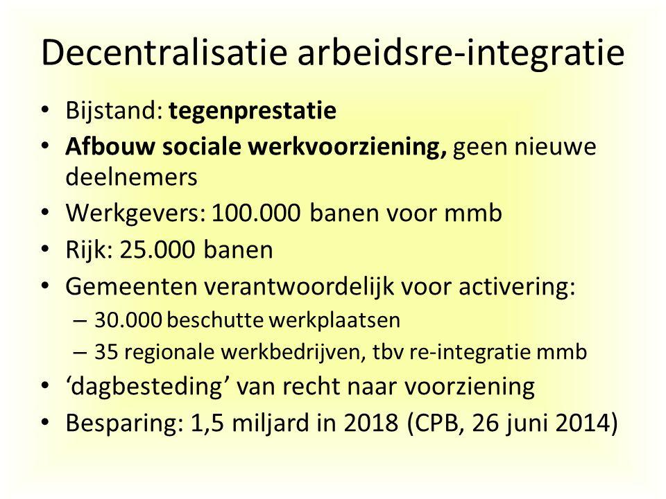 Decentralisatie arbeidsre-integratie