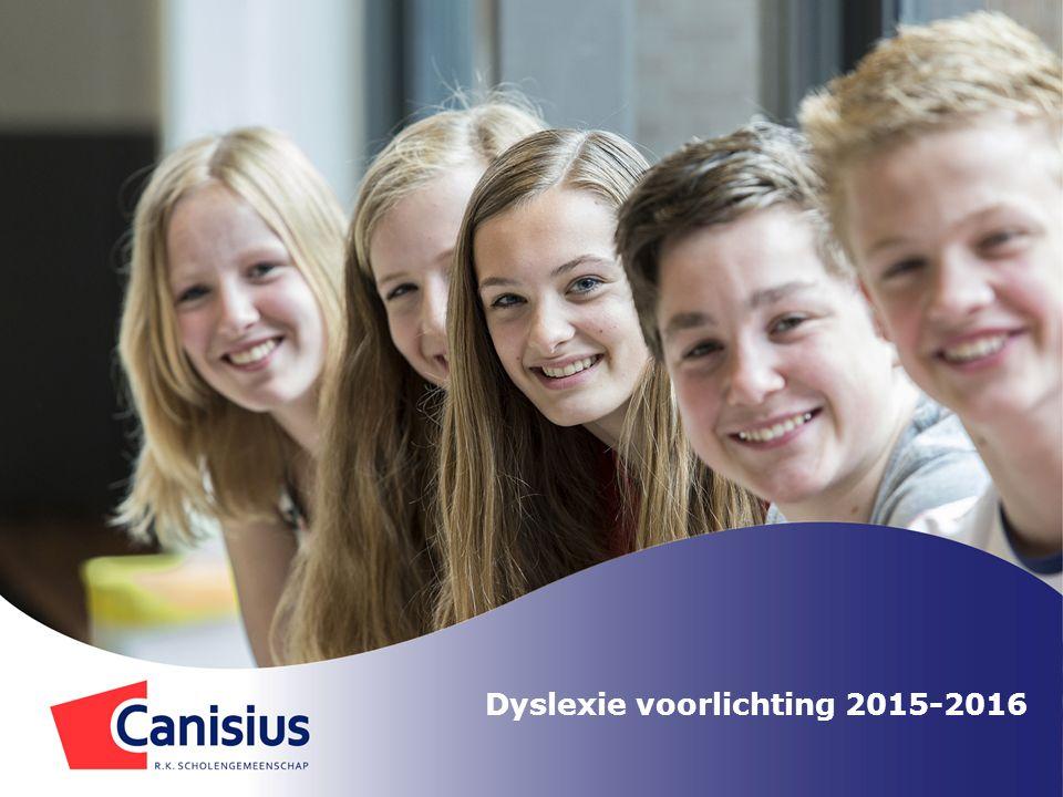 Dyslexie voorlichting 2015-2016