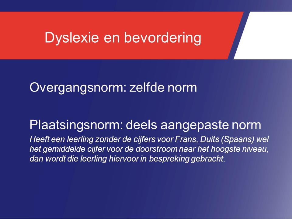 Dyslexie en bevordering