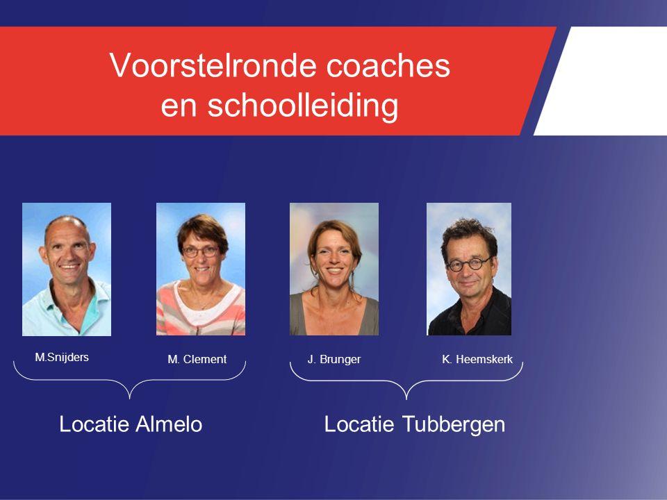 Voorstelronde coaches en schoolleiding