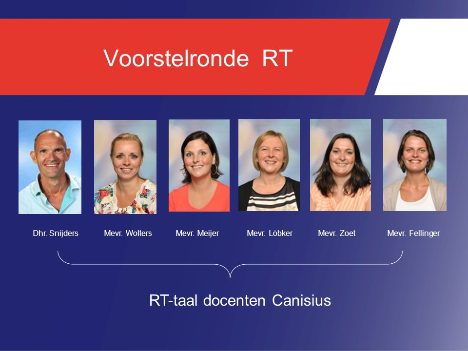 RT-taal docenten Canisius