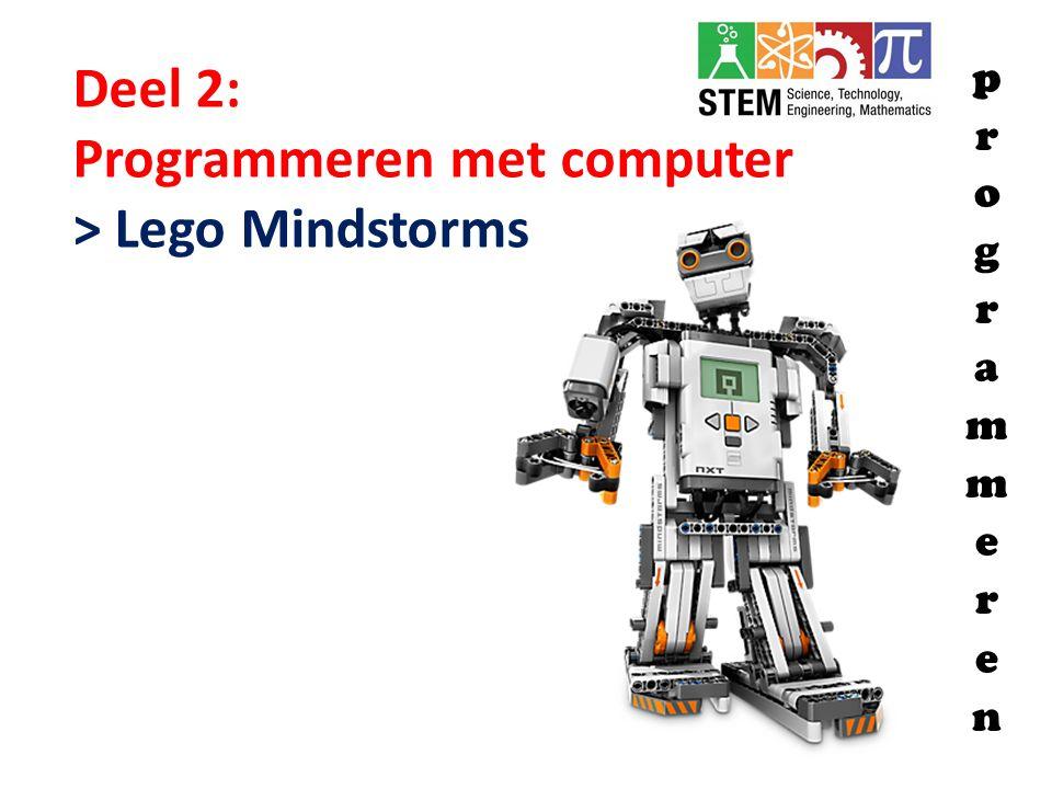 Programmeren met computer > Lego Mindstorms