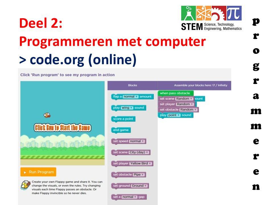 Programmeren met computer > code.org (online)