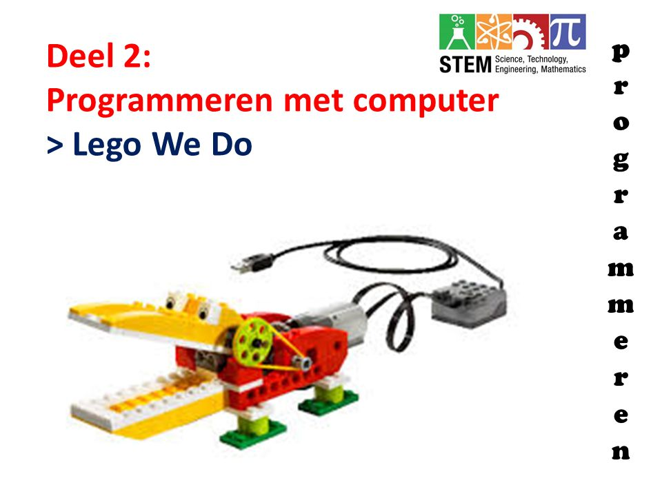 Programmeren met computer > Lego We Do