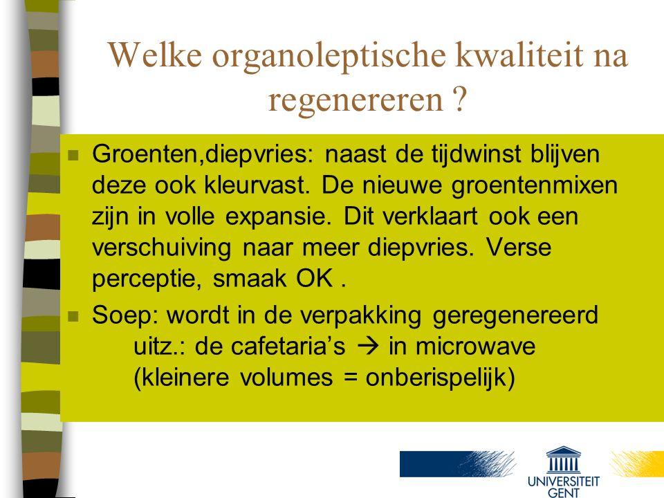 Welke organoleptische kwaliteit na regenereren