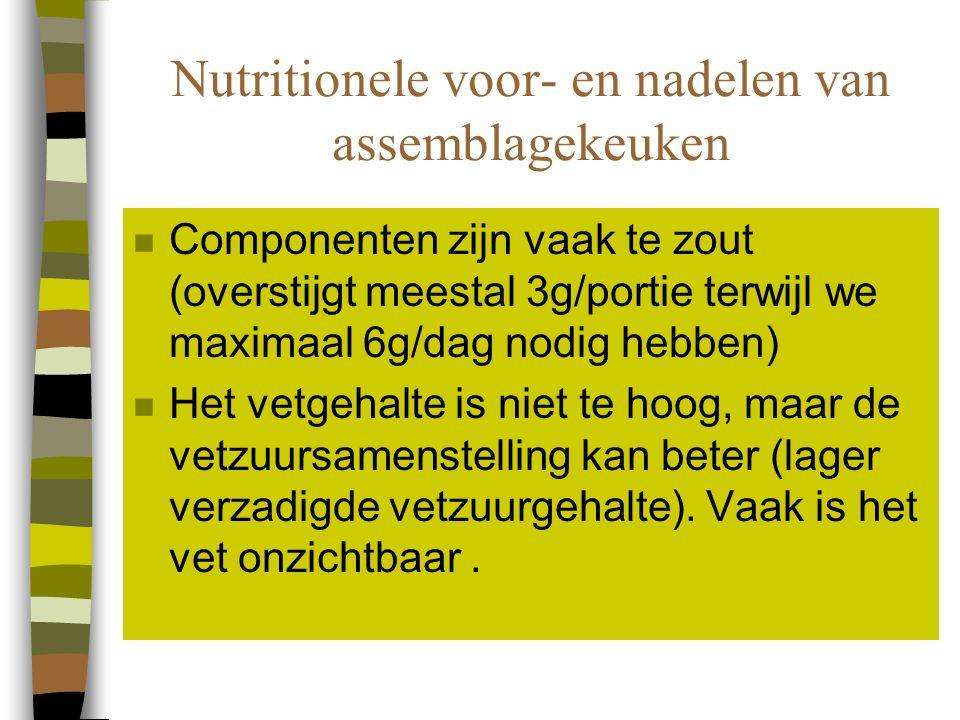 Nutritionele voor- en nadelen van assemblagekeuken