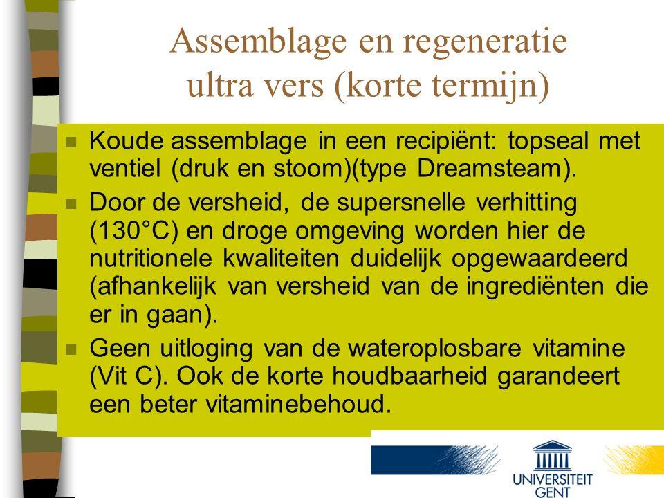 Assemblage en regeneratie ultra vers (korte termijn)