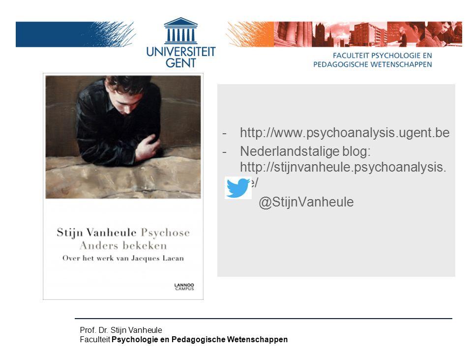 Nederlandstalige blog: http://stijnvanheule.psychoanalysis.be/