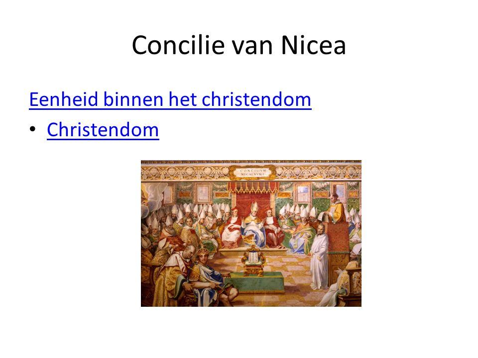 Concilie van Nicea Eenheid binnen het christendom Christendom
