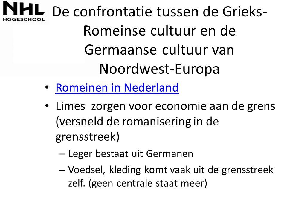 De confrontatie tussen de Grieks-Romeinse cultuur en de Germaanse cultuur van Noordwest-Europa