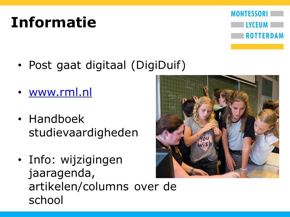 Informatie Post gaat digitaal (DigiDuif) www.rml.nl