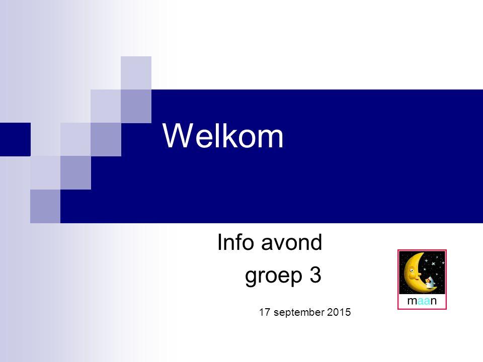 Info avond groep 3 17 september 2015