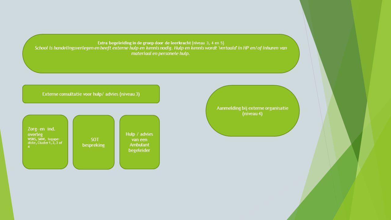 Externe consultatie voor hulp/ advies (niveau 3)
