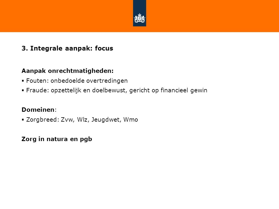 3. Integrale aanpak: focus