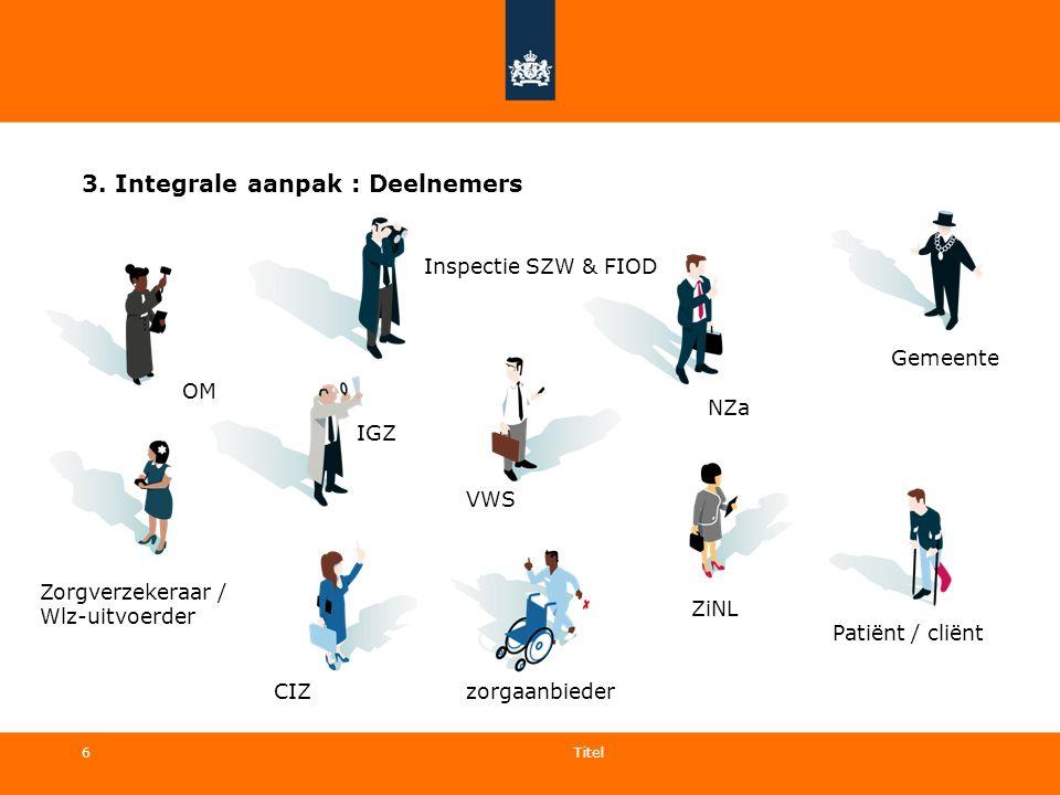 3. Integrale aanpak : Deelnemers
